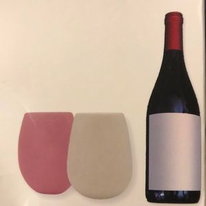 Set of 2 Silicone Stemless Wine Glass Set